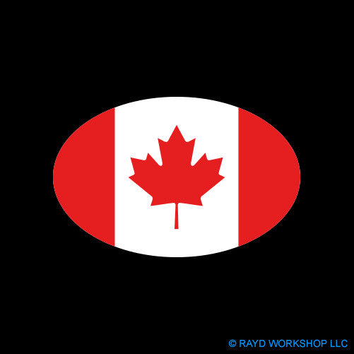 Euro Oval Canadian Flag