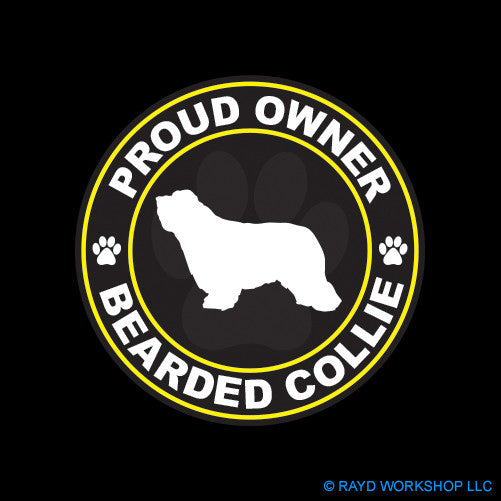 Proud Owner Bearded Collie