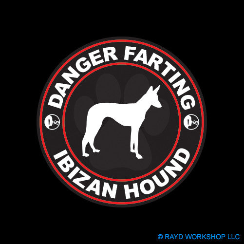 Danger Farting Ibizan Hound dog canine pet