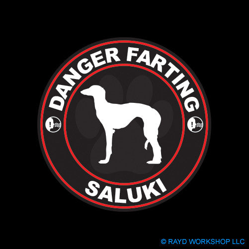 Danger Farting Saluki dog canine pet