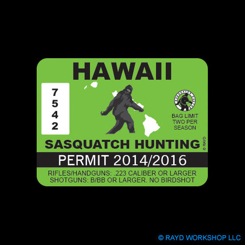 Hawaii Sasquatch Hunting Permit