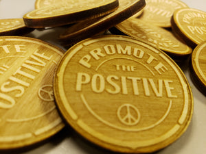 Woodgrain Promote the Positive pins