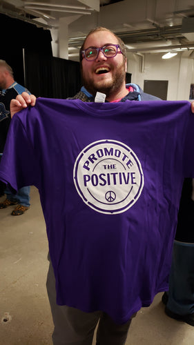 Royal Purple Short Sleeve Promote the Positive T Shirt