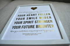 Gold Foil Presence Pledge Print