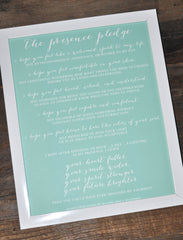 The Presence Pledge Print
