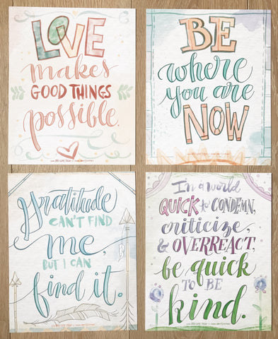 Watercolor Prints (Set of 4)