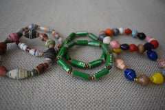 PRE-ORDER ONLY! Alice's Recycled Paper Bead Bracelets