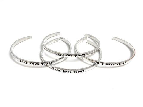Only Love Today Thin Metal Bracelet