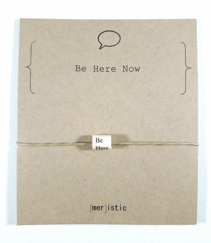 Be Here Now Bead Bracelet
