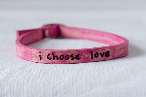 I Choose Love Bracelet-Pink