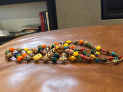 Alice's Recycled Paper Bead Necklaces