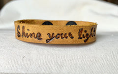 Shine Your Light Leather Cuff