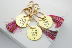 Live Love Now Keychain