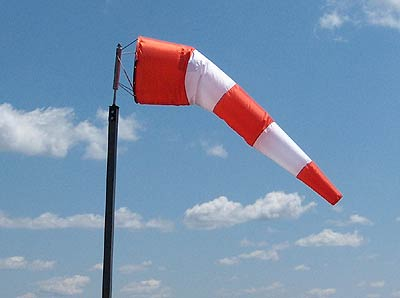 "Windsock - Orange and White (36"" X 12')"