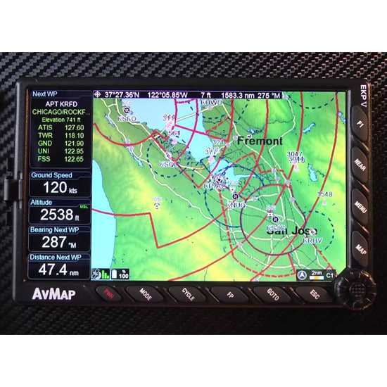AvMap EKP-V Aeronautical Moving Map GPS