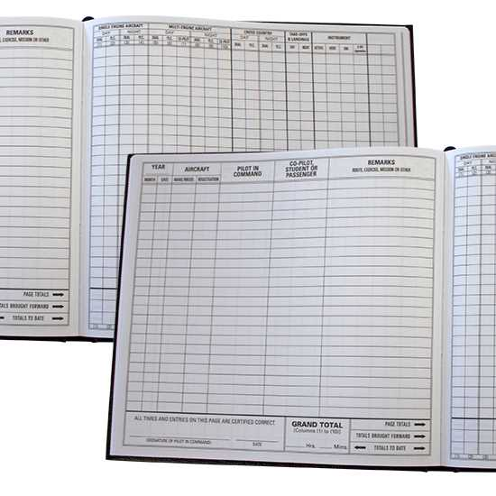 Pilot Log Book - Large