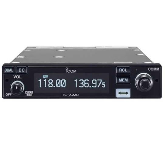 ICOM A220T  Panel Mount VHF Radio Transceiver TSO'd for Certified Aircraft