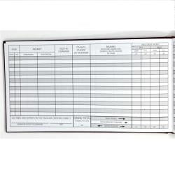 Professional Pilot Logbook w/ Wide Columns (Black)