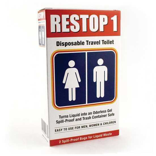 Restop 1 Disposable Travel Toilet