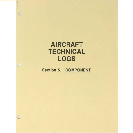 Aircraft Technical Logs, Section 5 - COMPONENT - Gold Cover