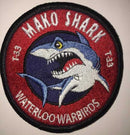 "Waterloo Warbirds Patch - T-33 Silver Star ""Mako Shark"""