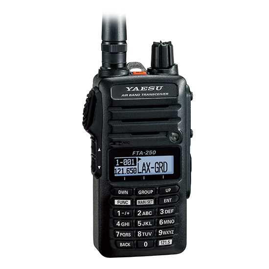 Yaesu FTA-250L VHF Air Band Radio Transceiver