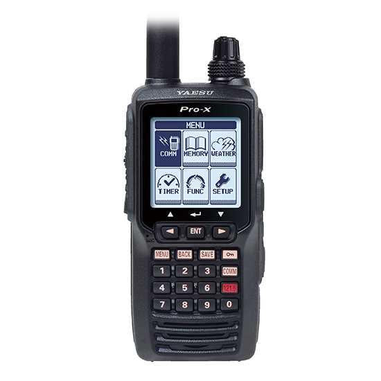 Yaesu FTA-550 PRO-X Nav/Com Air Band VHF Radio Transceiver