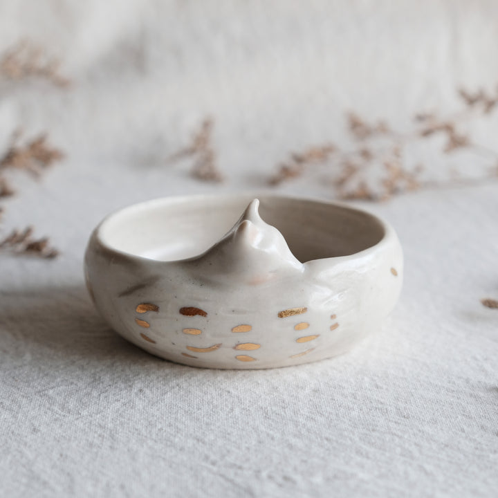 Sleepy Fox Planter | Shallow Matte Dash
