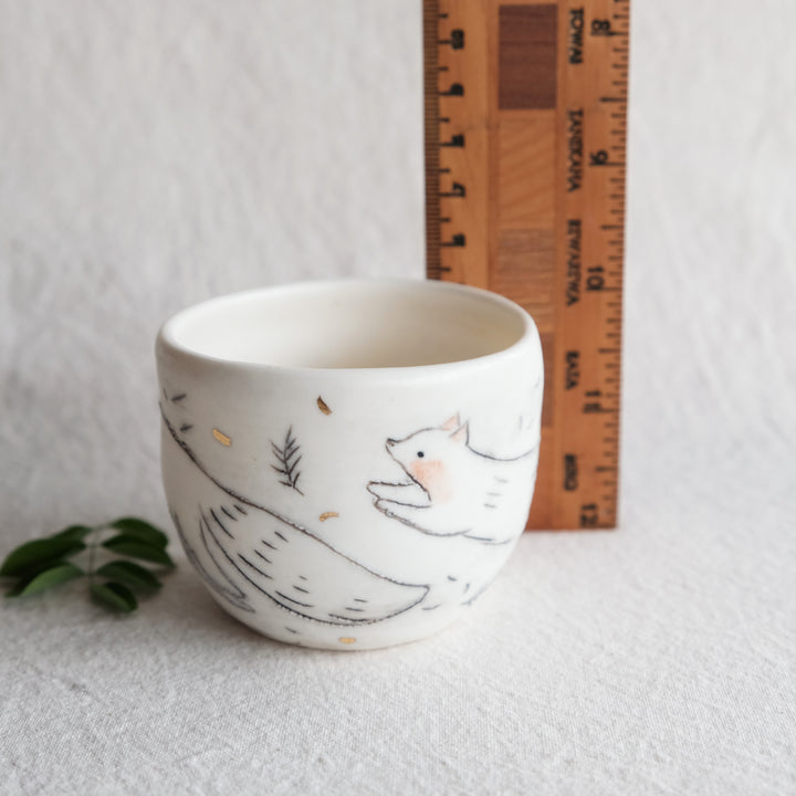 Leaping Long Fox Planter