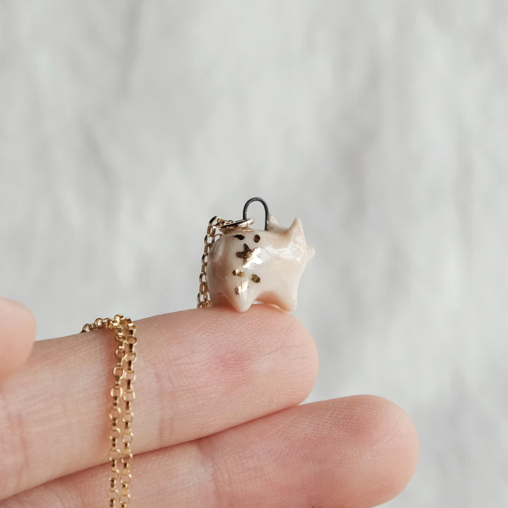 Starry Piglet Necklace