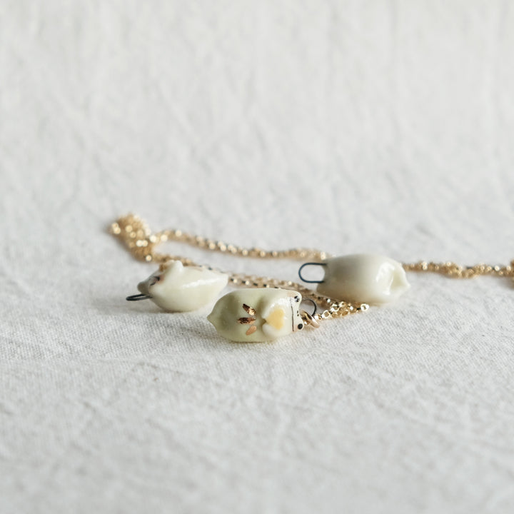 Yellow Sweetheart Frog Necklace