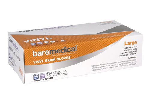 Vinyl Gloves Powder Free Bare Medical