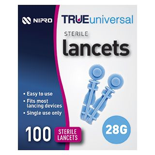 Lancets True Universal Nipro 28g 100pkt - First Aid Distributions