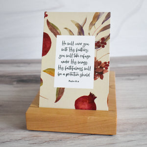 Premium Wood Display & Storage Tray for Weekly Bible Verse Cards