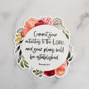 Bible Memory Verse Vinyl Static Cling Stickers