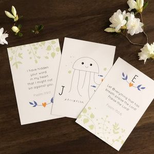 ABC Bible Verse Flash Cards - Animals
