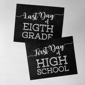 1st-Last Day of School Signs