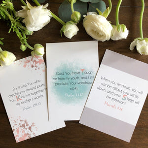 ABC Bible Verse Cards for New Baby Girl