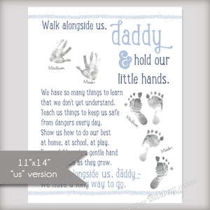 Walk Alongside Me, Daddy Art Print