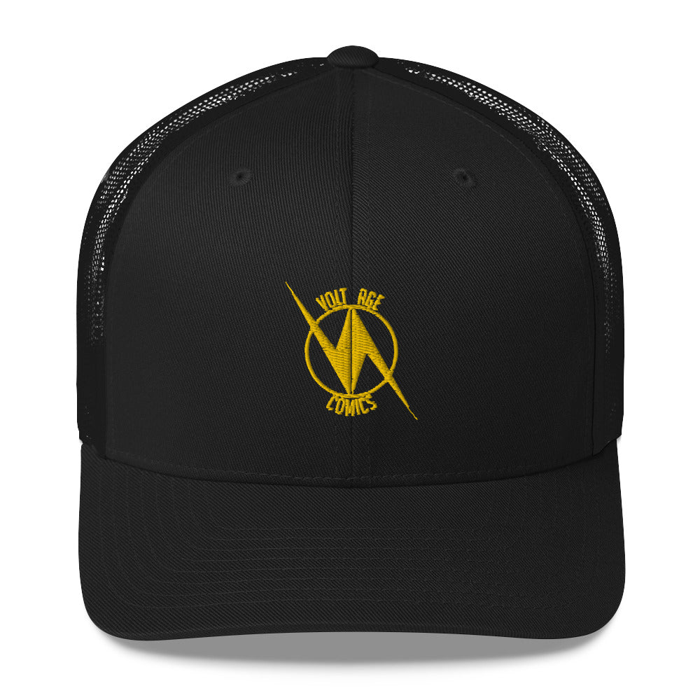 Volt Age Trucker Hat (Gold on Black)