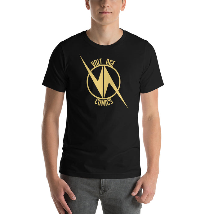 VoltAge Gold on Black T Shirt