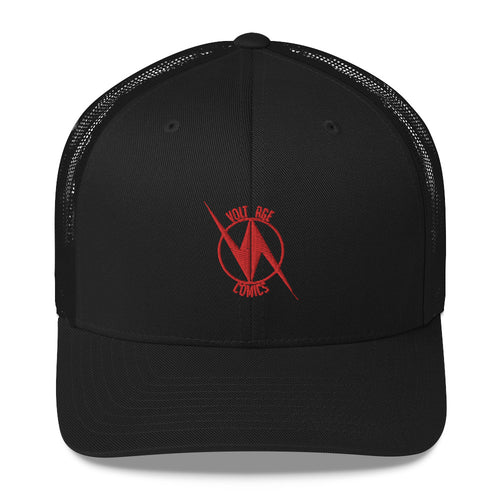 Volt Age Trucker Hat (Red on Black)
