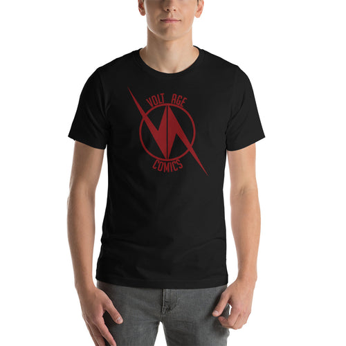 VoltAge Red on Black T Shirt