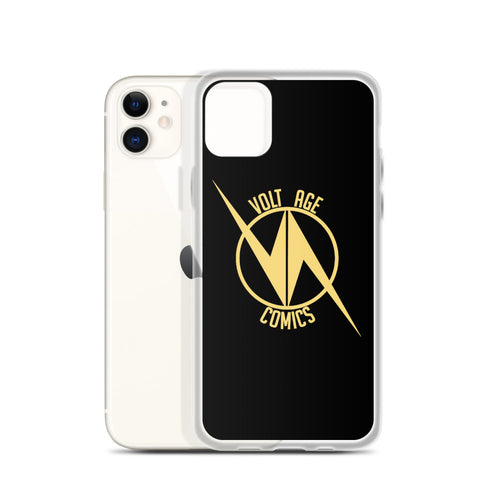 Volt Age Comics iPhone Case Gold on Black