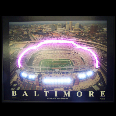 Baltimore Football Stadium Neon/Led Picture