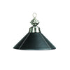 "Image of 14"" Lthr Blk Single Pendant"