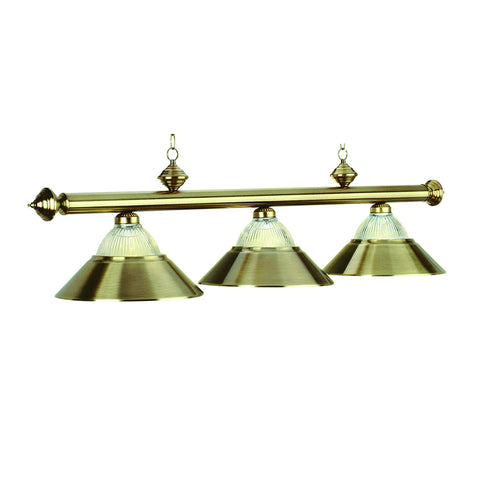 "3 Lt-54"" Billiard Light-Antique Brass"
