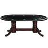 "Image of 84"" Texas Hold'Em Game Table With Dining Top- Cappuccino"