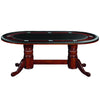 "Image of 84"" Texas Hold'Em Game Table - English Tudor"