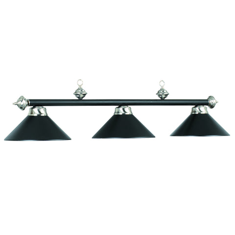 "54"" 3Lt Billiard Light- Matte Blk/St"